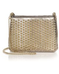 Christian Louboutin | Triloubi Small Embossed Metallic Leather Spiked Shoulder Bag | Lyst