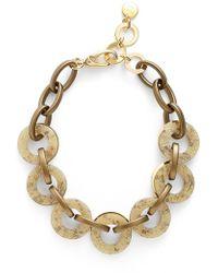 Pono - Resin Choker Necklace - Brass - Lyst