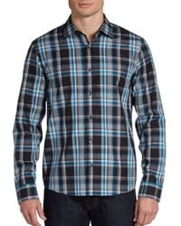 Michael Kors Bold Plaid Cotton Sport Shirt - Lyst