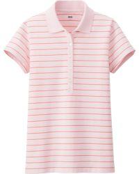 Uniqlo Women Striped Short Sleeve Polo Shirt - Lyst