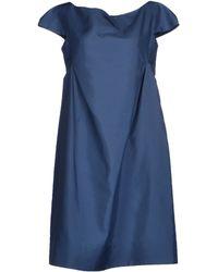 Jil Sander Short Dress blue - Lyst