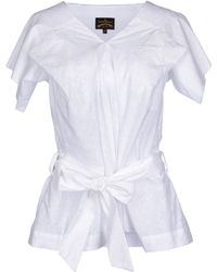 Vivienne Westwood Anglomania Blouse white - Lyst