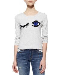 Milly Wink Intarsia Sweater - Lyst