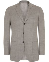 Aquascutum Nicholl Notch Lapel Single Breasted Blazer - Lyst