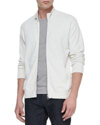 Theory Veton Zipfront Jacket Cream - Lyst