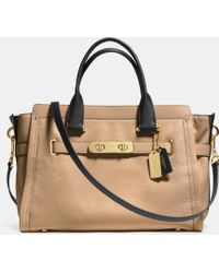 Coach Swagger 37 In Colorblock Leather - Lyst