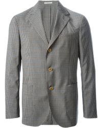 Boglioli Gray Checked Blazer - Lyst