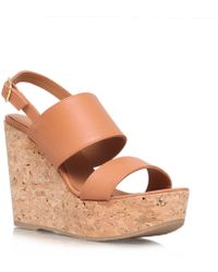 Kurt Geiger Gardenia High Heel Wedges - Lyst
