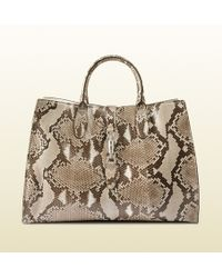 Gucci - Jackie Soft Python Top Handle Bag - Lyst