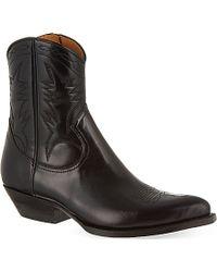 Saint Laurent - Santiag Leather Boots - For Women - Lyst