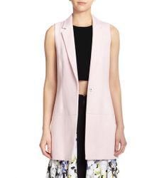 Elizabeth And James Finn Long Cotton Vest pink - Lyst