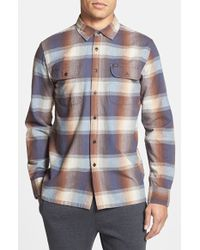 Obey 'Fulton' Trim Fit Plaid Flannel Woven Shirt - Lyst