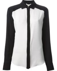 Pierre Balmain Contrasting Panels Shirt - Lyst