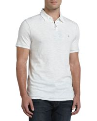 John Varvatos Polo with Pickstitching - Lyst