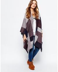 Pieces - Check Buckle Cape - Lyst