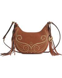 Michael Kors Rhea Studded Sm Flap Bag - Lyst