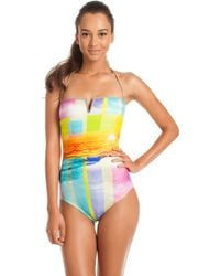 Trina Turk One Piece Crystal Cove - Lyst