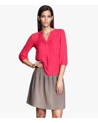 H&M Pleated Skirt - Lyst