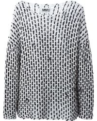 MM6 by Maison Martin Margiela Knit Sweater - Lyst
