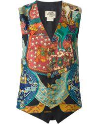 Hermes Printed Waistcoat - Lyst