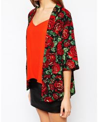 AX Paris - Kimono In Floral Print - Lyst