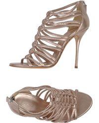 Casadei Sandals pink - Lyst