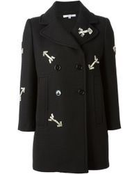 Carven Arrows Embroidered Peacoat - Lyst
