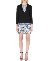 Emilio Pucci Contrast-trim Jersey Dress - Lyst