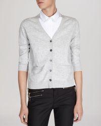 Karen Millen Cardigan - Knit Contrast Back - Lyst