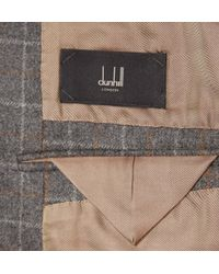 Dunhill - Grey Slim-Fit Windowpane-Check Wool Suit - Lyst