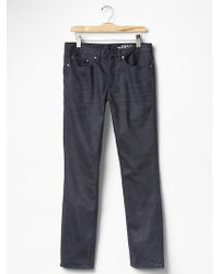 Gap Slim Fit Jeans Dark Pigment Wash - Lyst