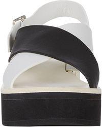 Jil Sander Colorblock Crisscross-strap Platform Sandals - Lyst