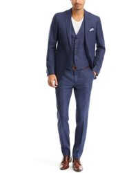 Hugo Boss Reyno/Wave We | Extra Slim Fit, Italian Virgin Wool And Silk 3-Piece Suit - Lyst
