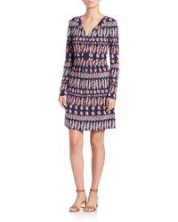 Tory Burch | Printed Matte Jersey Dress | Lyst