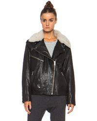 Etoile Isabel Marant Benny Washed Leather Jacket - Lyst
