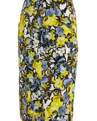 Erdem Frida Floral-print Pencil Skirt - Lyst