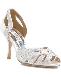 Badgley Mischka Tatiana Crystal Evening Shoe - Lyst