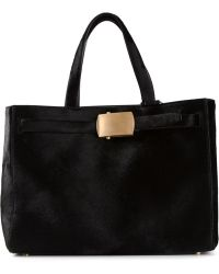 Calvin Klein Buckle Fastening Tote Bag - Lyst