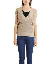 VPL - Neo Low O Jumper In Taupe - Lyst