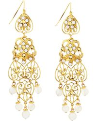 Jose & Maria Barrera Filigree Drop Earrings gold - Lyst