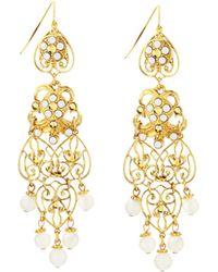 Jose & Maria Barrera Filigree Drop Earrings - Lyst