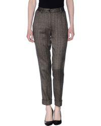 Dolce & Gabbana Casual Trouser brown - Lyst