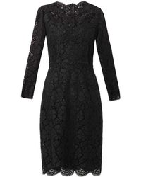 Dolce & Gabbana Longsleeved Lace Dress - Lyst