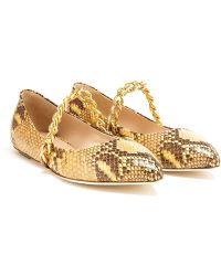 Simone Rocha Python Effect Ballerina Shoes - Lyst
