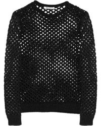 T By Alexander Wang Openknit Sweater - Lyst
