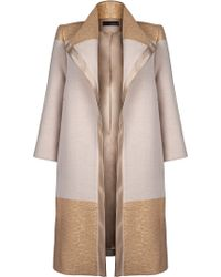 Amanda Wakeley Gold Aziza Coat - Lyst