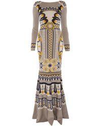 Temperley London Long Portillo Jacquard Dress - Lyst