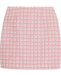 Alexander Lewis   Morningside Cotton-jacquard Mini Skirt   Lyst