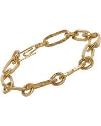 Aurelie Bidermann Hammered Chain Bracelet gold - Lyst
