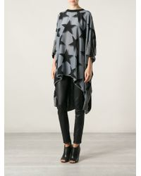 Vivienne Westwood Anglomania Star Printed Asymmetric Hem Tunic - Lyst